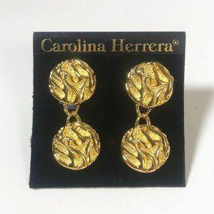 Caroline Harrera Beautiful Gold  Earrings NWT